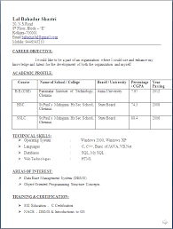 resume sle for freshers download resume computer science fresher best ideas of sle resume for