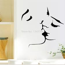 Aliexpresscom  Buy Best Selling Kiss Wall Stickers Home Decor - Home decor wall art stickers