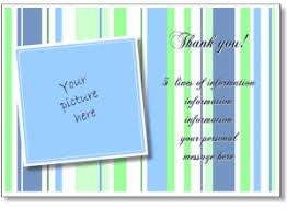 personalized thank you card print a thank you greeting card add