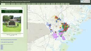 Map Of Savannah Ga Savannah Ga Official Website Savannah Under Construction