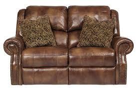 Ashley Furniture Microfiber Loveseat Walworth Power Reclining Loveseat Ashley Furniture Homestore