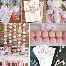 Baby Showers Decorations by Twin Bunny Baby Shower Decorations For Girls Twin Baby Shower
