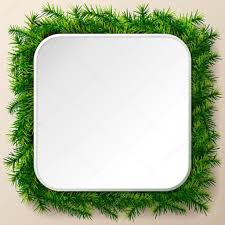 empty square frame of christmas tree twigs u2014 stock vector kulyk