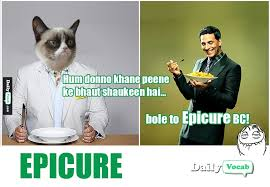 Meaning Of Meme In English - epicurean synonyms in hindi dailyvocab english hindi meaning