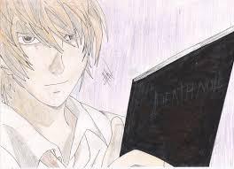 yagami light kira deathnote sketch sketchconic