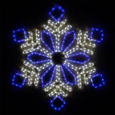 snowflakes 28 led flower snowflake blue and
