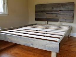 Reclaimed Wood Headboard by Reclaimed Wood Bed Weathered Grey Gallery And Headboard Images