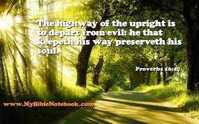proverbs 16 17 daily bible verse study bible notebook