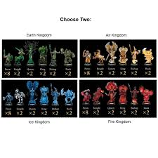 elemental fantasy chess set