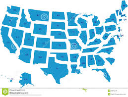 Us Map Outline Us Map Template For Powerpoint With Editable States Slidemodel