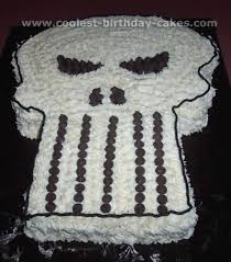 free cake decorating idea skull shaped cake