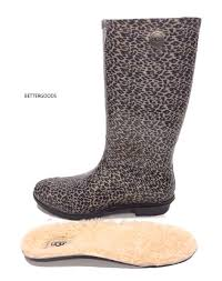s pull on boots australia ugg australia s shaye leopard print waterproof boots