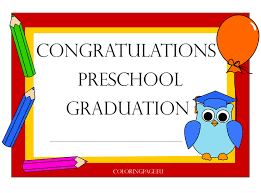 preschool graduation certificate preschool graduation certificate coloring page