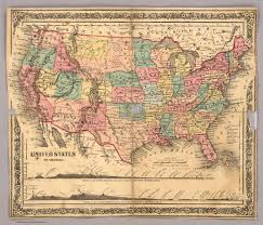 A Map Of The United States Of America by Map United States Of America Colton J H 1860
