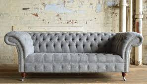 Chesterfield Sofa Linen Chesterfield Tufted Linen Upholstered 3 Seater Sofa Russcarnahan