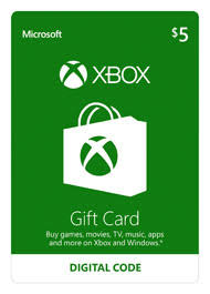 5 gift card 5 xbox gift card digital for xbox 360 gamestop