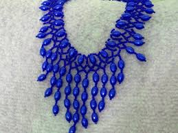 beautiful beads necklace images Free pattern for beautiful beaded necklace blue drops beads magic jpg