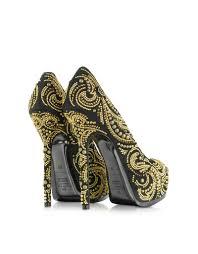 shoeniverse philipp plein black high heel orient platform pump