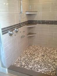 Bathroom Shower Accessories by Tile Shower With Corner Shelves Popular Ideas Bathroom Remodel