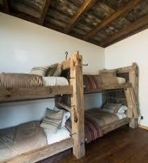 Barnwood Bunk Bed Timber Frame Item BR  Standard - Timber bunk bed