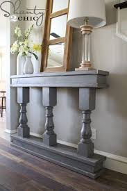 Hall Table Plans Diy Console Table Shanty 2 Chic