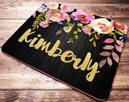 Customized Desk Accessories Mouse Pad Etsy