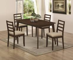 mulligan 5 piece dining table and chair set coaster 104961 104962