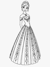 anna coloring pages winter dress coloringstar
