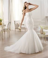 mermaid trumpet wedding dress mermaid trumpet strapless tulle lace wedding dress with buttons