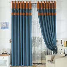 Blue And Orange Curtains Modern Unique Window Curtains Are For Living Room