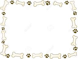 paw clipart frame pencil and in color paw clipart frame