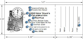 large raffle ticket template