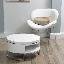 saphira white lacquer coffee table office