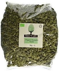 tree of life organic pumpkin seeds 1 kg amazon co uk grocery