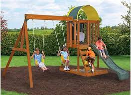 backyard play structures wood structure toddler architecture