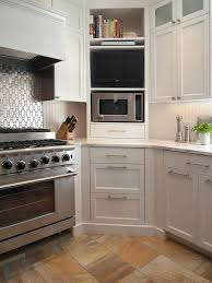 30 corner drawers and storage solutions for the modern kitchen design ideas corner microwave cabinet in the kitchen with shelves