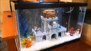 lego castle fish tank