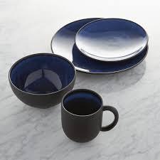 jars tourron blue dinnerware crate and barrel