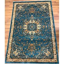 Floral Area Rug Antep Rugs Oriental Collection Harem Floral Area Rug Blue Ivory 4