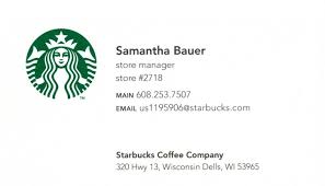 Starbucks Business Cards American Edge Jay Saldana Terminalgr