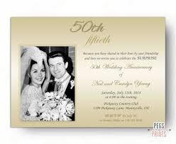 50 year wedding anniversary 50th wedding anniversary invites golden two photo anniversary
