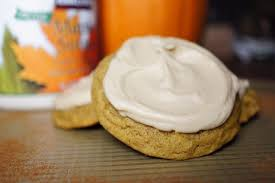 maple frosting soft baked pumpkin cookies with maple frosting owlbbaking com