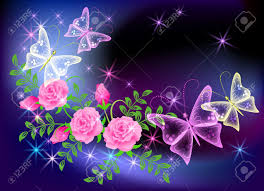 purple flower background with butterfly free best hd wallpapers