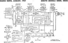 zenith models 5r080 5r086 schematic u0026 parts list august 1947