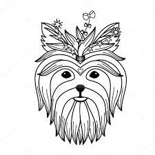 yorkshire terrier tattoo u2014 stock vector kronalux 87312912