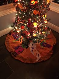 decorated halloween trees musings from kim k dollar tree ideas for halloween