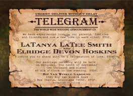 telegram wedding invitation 10 images of vintage telegram invitation template bridal shower