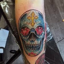 diamond tattoo neo traditional 100 sugar skull tattoo designs for men cool calavera ink ideas
