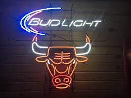 bud light neon signs for sale bud light chicago bulls nba sports neon sign real neon light for