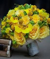 118 best yellow green wedding bouquets images on pinterest